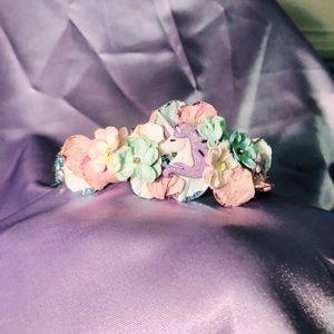 Women's Girl's Unicorn Flower Costume Crown Magic